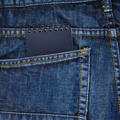 Note book in back pocket — Stock Photo