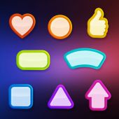 Banner button set — Vettoriale Stock