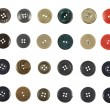 Multiple sew-through buttons isolated — Stock Photo #56472403