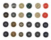 Multiple sew-through buttons isolated — Stock Photo