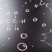 Blackboard with some chemistry structures drawn — Stock Photo