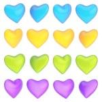 Glossy heart shape isolated — Stock Photo #57457677