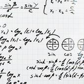 Trigonometry math equations and formulas — Stock Photo