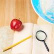 Studying geography composition — Stock Photo #57848915