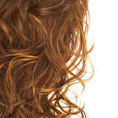 Hair fragment over the white — Stock Photo