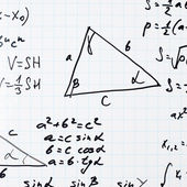 Trigonometry math equations and formulas — Stock Photo