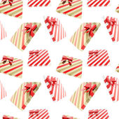 Seamless background made of gift boxes — Stock Photo
