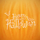 Happy Halloween calligraphic lettering — Stock Vector