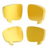 Text bubble shapes — Stock fotografie