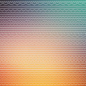 Set of seamless border lines — Vector de stock