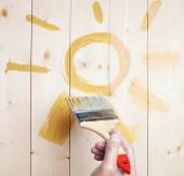 Drawn symbolic yellow sun — Stock Photo