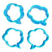 Cloud shaped text bubbles isolated — Stock Photo