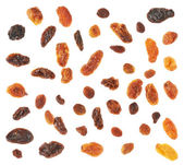 Set of multiple dried fruits raisins isolated — Foto de Stock