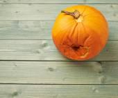 Spoiled orange pumpkin composition — Stock Photo