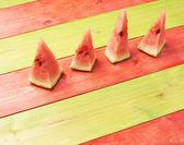 Multiple watermelon pieces composition — Stock Photo