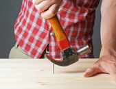 Taking out the nail — Stock Photo