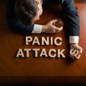 Záchvaty paniky fráze — Stock fotografie