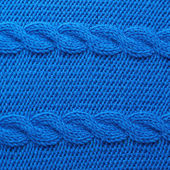 Knitted blue material — Stock Photo