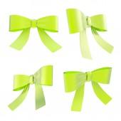 Ribbon bows set — Stock Photo