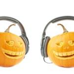 Jack-o-lanterns halloween pumpkin head — Stock Photo #61682359