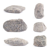Granite stone isolated — Stock Photo