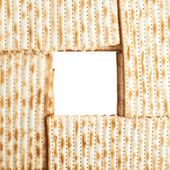 Square frame formed with matza flatbread — Stock Photo