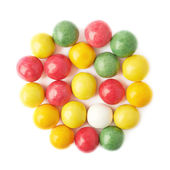 Multiple chewing gum balls isolated — Stock Photo