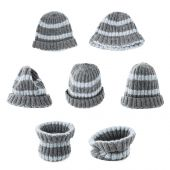 Gray knitted head cap isolated — Stock Photo