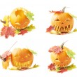 Jack-o-lanterns orange pumpkin head isolated — Stock Photo #62194641