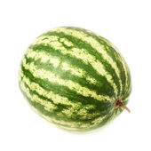 Ripe green watermelon fruit isolated — Stock Photo