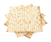 Twisted pile of multiple matza flatbreads — Stock Photo