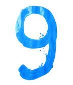 Handgezeichnete mit Ölfarbe digit — Stockfoto