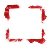 Square frame made with brush strokes — Foto de Stock
