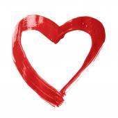 Heart shape brush stroke frame — Stock Photo
