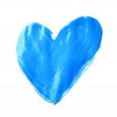 Heart shape drawn with oil paint — 图库照片
