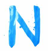 Letter made with the paint strokes — Foto de Stock