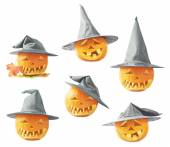 Jack-o-lanterns pumpkin in a hat — Stock Photo