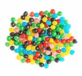 Pile of candy ball sweets isolated — Stock Photo