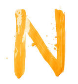 Letter made with the paint strokes — Stock Photo