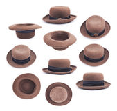 Brown female hat isolated — Stok fotoğraf