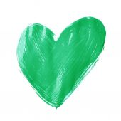 Heart shape drawn with oil paint — Stock Photo