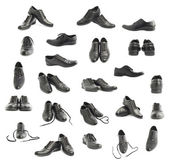Classic black leather shoes isolated — Stock Photo