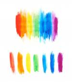 Rainbow gradient made with paint strokes — Stock Photo