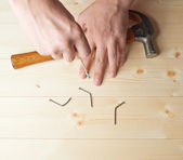 Screwing the screw composition — Stock Photo
