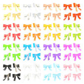 Decorational ribbon bow set isolated — Stock Photo