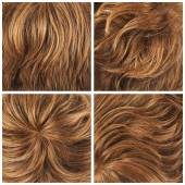 Set of four hair backgrounds — Stock Photo