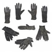 Black cloth working gloves isolated — Stock Photo