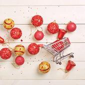 Christmas shopping composition — Stock Photo