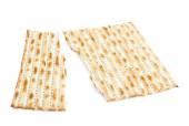 Cracked machine made matza flatbread — Stock Photo