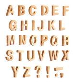 ABC alphabet set with punctuation marks — Stock Photo